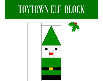 Toytown Elf Foundation Paper Pieced Block Patchwork Quilting Sewing Quilt Baby Character Series Pattern