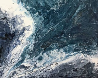 There's plenty more fish in the sea - acrylic pour painting