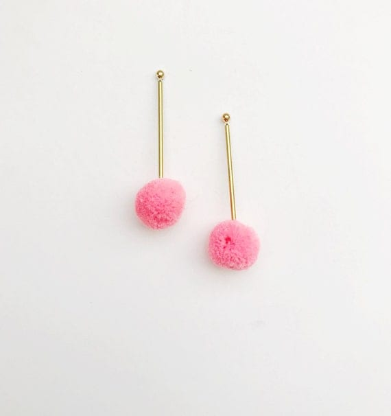 Small Pom Pom Drops, more colors available