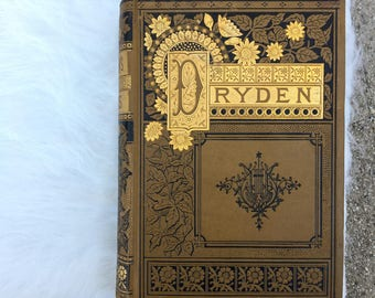 Antique Poetry Book w/ Gold Details