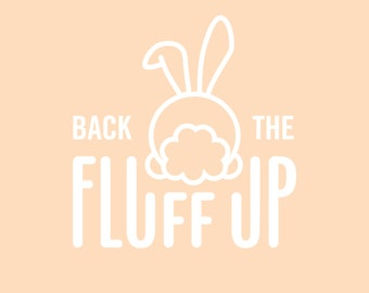 Back The Fluff Up: Bandana Text Add On