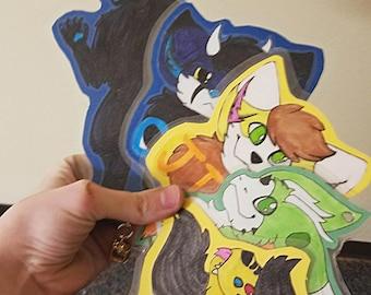 Custom Fursuit Character Badge Commission