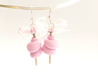 cotton candy pink earrings