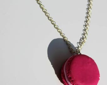 beautiful polymer clay macaroon necklace