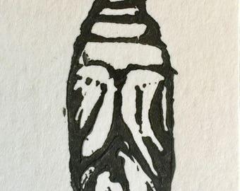 Pupa Linocut Print