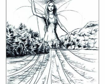 "Illustration ""Inaya lac Québec"""