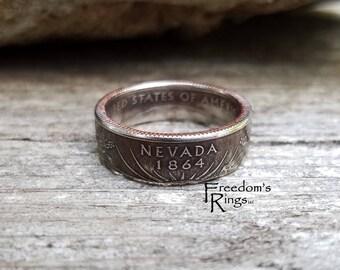 "2006 Navada ""Statehood"" Quarter Coin Ring"