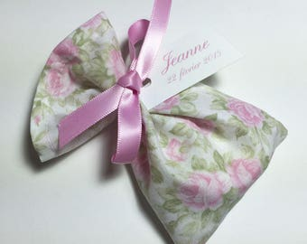 10 bags of sweets customized cotton pink flowers