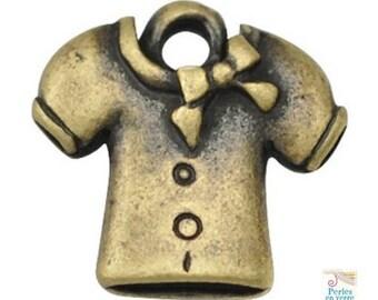 20 bronze charms, retro sweater, 10mm (BRE145)