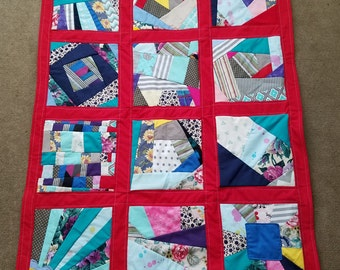 Homemade Crazy Throw/Lap Quilt by BlessedBeofCreations
