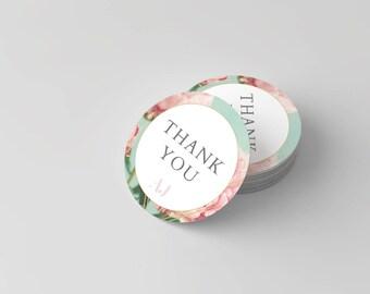 Amelia James THANK YOU Stickers, Multi Purpose | PEONY