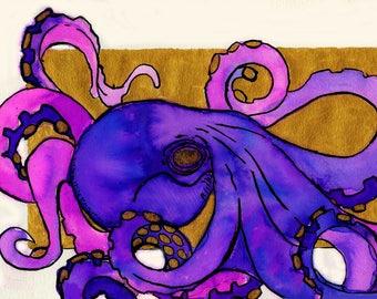 Purple Octopus - Original