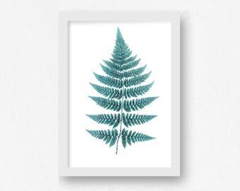 Fern Print, Leaf Print, Printable Art, Botanical Wall Art, Modern Wall Art, Living Room Decor, Nature Print, Fern Fronds, INSTANT DOWNLOAD
