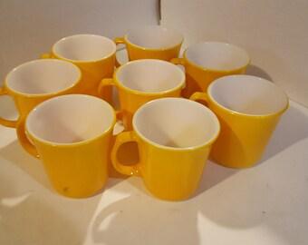 Vintage Corning Gold mugs, set of 8