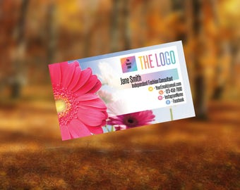 Business Cards for Home Fashion Retailer and Consultant. Home Office approved fonts and color