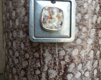 Square Corn - ZHarvest Gems - Unique handcrafted pendant made from corn - Patent pending process