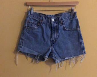 Size XS blue Levi denim shorts