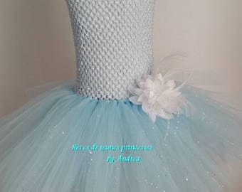 Tutu dress ceremony and celebrations blue, size 1 to 8 years