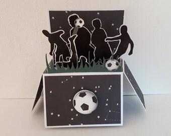 Carte boite pop up football