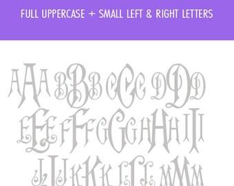 Fancy monogram font, Fancy svg font, Cricut font, Monogram Font, Svg font, Monogram svg font