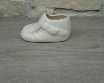 Decorative porcelain baby shoe