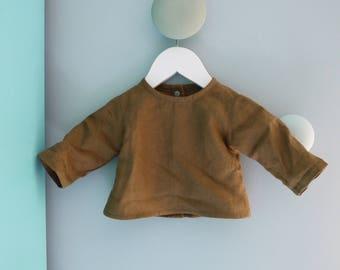Shirt blouse linen nut size newborn to 3 months baby