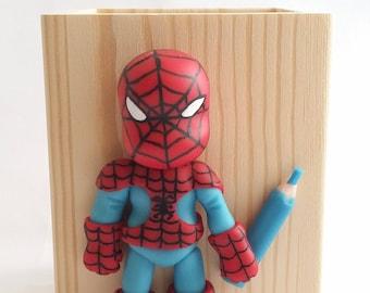 Spider hero pencil holder
