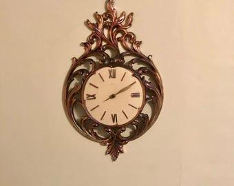 Vintage Syroco Hollywood Regency wall clock