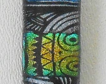 dichroic fused glass pendant free shipping
