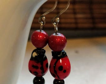 Ladybug Totem Earrings