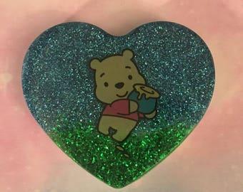 Winnie The Pooh Heart Charm