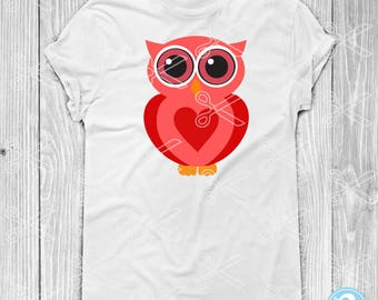 Owl SVG, PNG, DXF, Eps Cutting Files, Owl Cut File, Owl Svg File, Cute Owl Svg,  Animal Svg, Valentine Svg, Girl Valentine Svg, Owl Clipart