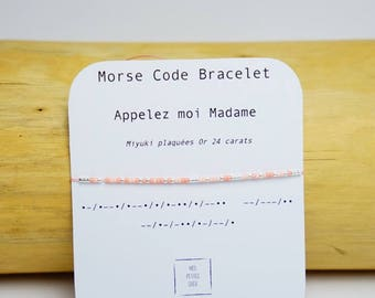 Morse code wedding bracelet