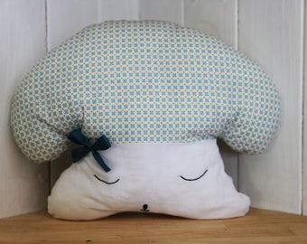Mushroom hand embroidered pillow