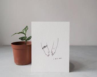 i miss you card 11x15 cm