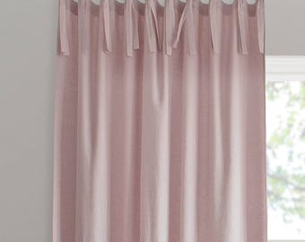 Linen Curtain. Linen windows panel. Linen curtains with ties. Stonewashed. Window curtains. All Sizes. 20 colours. Ties top.