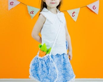 Kids designer wear DIVINE DAISY with Cute hair Bow and Purse