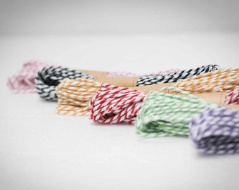 Baker's twine in cotton - set of 6 colors