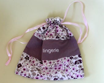 """/Pochon """"My lingerie"""" storage bag"""
