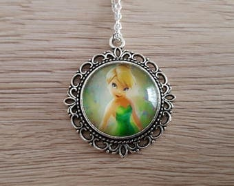 children necklace in silver Tinkerbell