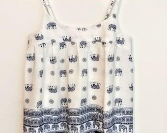 Ladies Elephant Print Swing Top (UK Size 10-12)