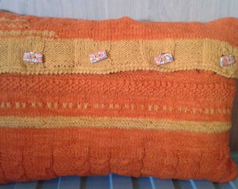 Knitted hand, with cushion (46 cm 30 cm) pillow cover