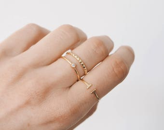 Delicate ring, Simple ring, Stacking ring, Dainty ring, Gold Ring, Delicate Gold Ring, Dainty gold ring, R061