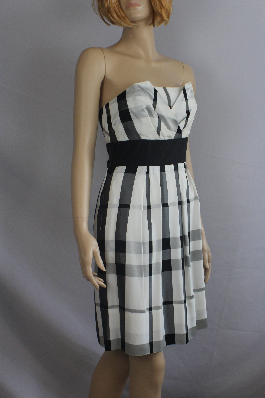 90s prom dress vintage 1990s dress plaid taffeta White