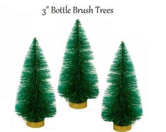 """3"""" Bottle Brush Trees, Sisal Trees"""