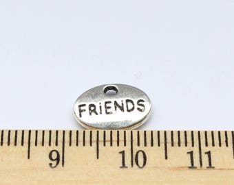 5 Friends Charms - Antique Silver - ef0155