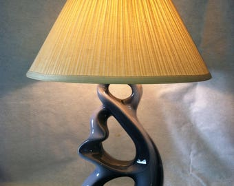 Mid Century Biomorphic Lamps (2)