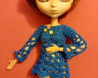 Sweater, tunic for Pullip or Barbie