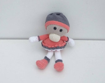 small crochet doll with his little hat