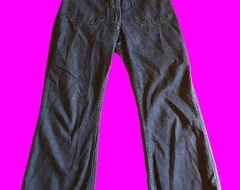 Vintage wide leg sailor navy jeans